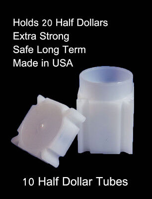 Numis Square Coin Tubes US Nickel Size Box of 100 Strong Safe Storage Tubes New