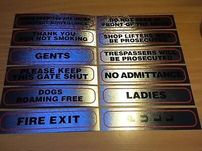 Classic High Quality Information Sign Brushed Metallic Silver Sticker FREE P&P