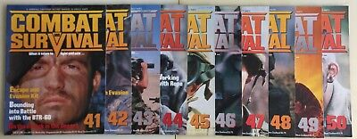 10 x Combat and Survival Magazines (1980s) - Issues 41 - 50