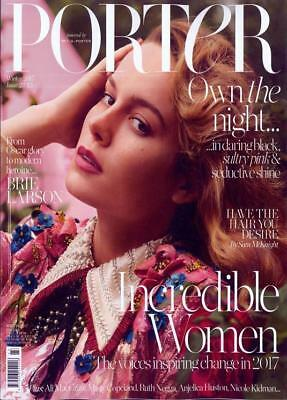 Porter Magazine #23 Winter 2017 ~ Brie Larson  Cover ~ New ~