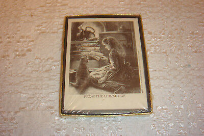 New in Box 30 Decorative Antioch Bookplates Art by W Hullidge Self Stick