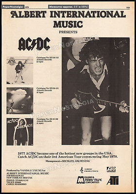 AC/DC - 3rd American Tour__Orig. 1978 Trade AD music promo / poster__Angus Young