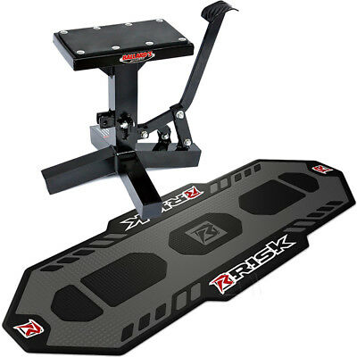 Ballards NEW Mx Lift Stand And Risk Racing Factory Mat Motocross Bundle