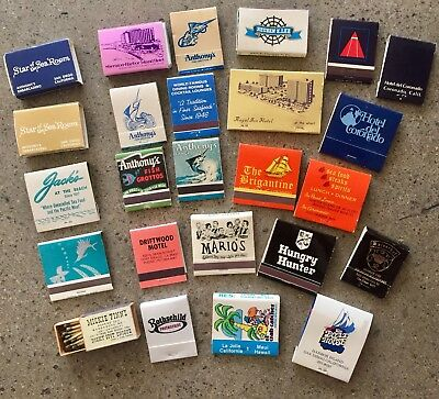Lot of Vintage San Diego SoCal Southern California Matches Matchbooks Unstruck