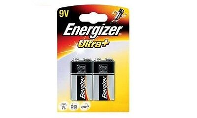 Energizer ultra + 9v Alkaline X2 PP3 6LR61 1604A E-Block Battery FAST P&P SQUARE