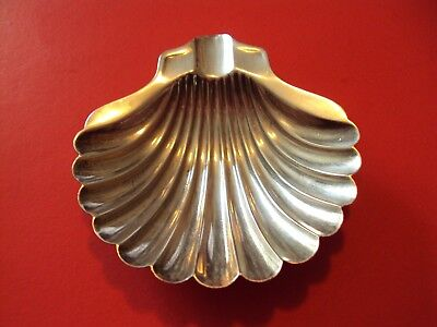 NAPIER STERLING SILVER  SHELL ASH TRAY or TEABAG HOLDER OR BUTTER PAT