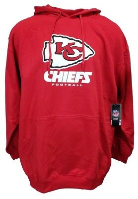 Kansas City Chiefs Red Majestic NFL Pullover Hoodie, Mens Size Big and Tall nwt