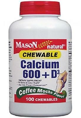 Mason Natural, Chewable Calcium 600 with Vitamins D3, Coffee Mocha Flavor,...