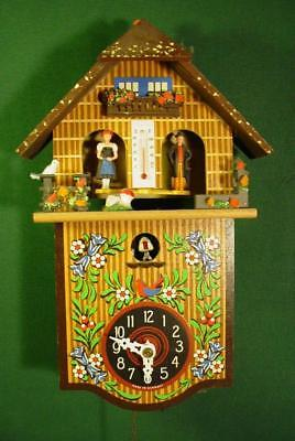 Colorful Vintage Toggili German Cuckoo Coo Coo Clock For Parts/repair