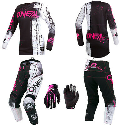 ONeal Element Pink motocross MX gear - Jersey Pants Gloves kids / youth combo