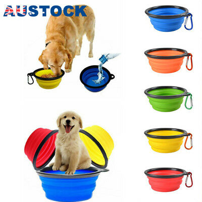 Pet Portable Water Bowl Travel Folding dog Cat Animal Outdoors Collapsable -c2