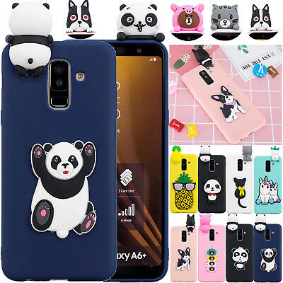 Durable Silicone 3D Animal Case Phone Cover For Samsung Galaxy A6 A8 J4 J6 A7 A5