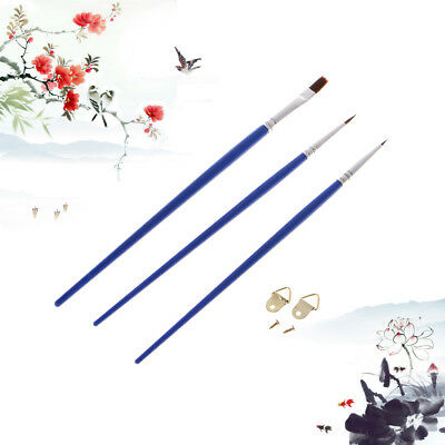 3Pcs Paint Brush Set For Acrylic Oil Gouache Watercolor Painting Easy Flow