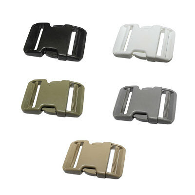 "12 pcs 2"" Curved Side Release Plastic Buckles for Backpack 50mm Webbing Straps"