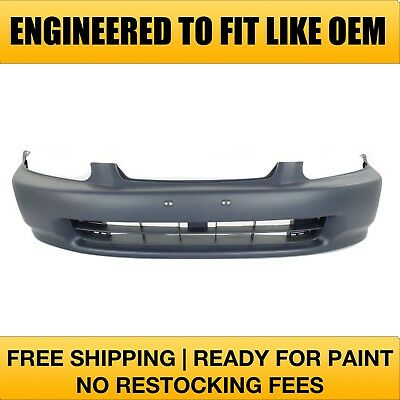 Fits 1996 1997 1998 Honda Civic Coupe Front Bumper PRIMERED (HO1000172)