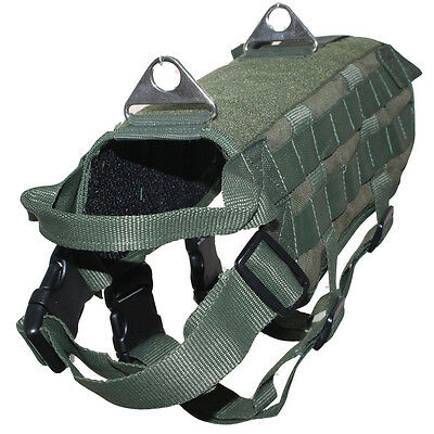 TACTICAL ARMY POLICE K9 DOG Vest TRAINING SEARCH & RESCUE Service Dog Harness