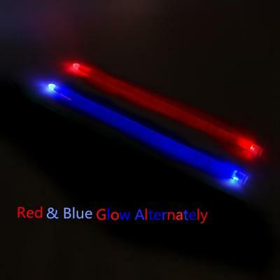 5A Acrylic Drum Stick Glow Performance Luminous Jazz LED Drumsticks Red & Blue