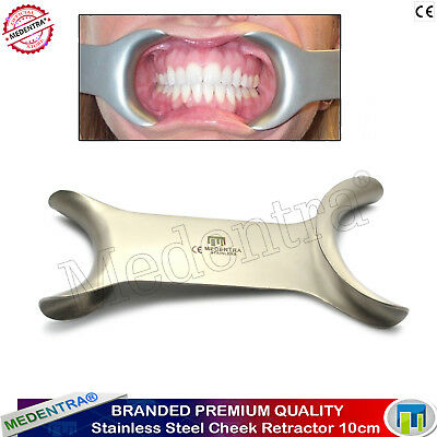 Stainless Steel Cheek Retractor Dental Orthodontic Surgical Mouth Openers 10cm