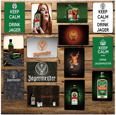 Jagermeister Metal Tin Signs Decor for Home Bar Pub Vintage Mural Painting