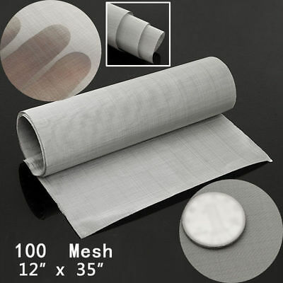 "Stainless Steel 12*35"" inch 100 Micron Mesh Woven Wire Cloth Screen Filter Sheet"