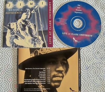 "Jimi Hendrix ""Live At Clark University"" Rare Cd March 1968 2Nd Show Out Of Print"