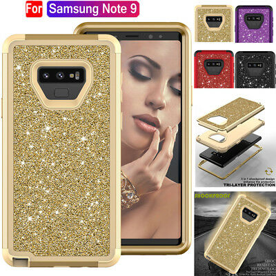 For Samsung Galaxy Note9/8 S9 S8 3D Bling  Shockproof Full Protective Cover Case