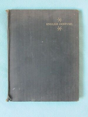 Rare. A Picture History Of English Costume  C Willet / Phillis Cunnington