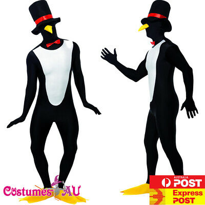 Mens Penguin Morph Suits Costume Ladies Animal Zoo Party Cosplay Morphsuits