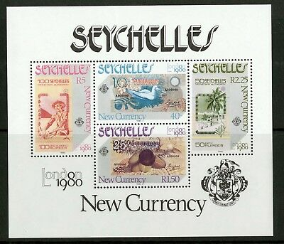 Seychelles  1980  Scott # 451a  Mint Never Hinged Souvenir Sheet