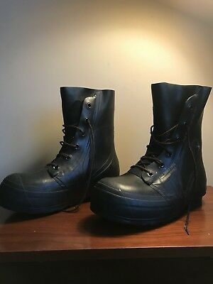 104e773cbeb BATA BLACK RUBBER Mickey Mouse Boots Men's US 10R Extreme Cold Military  Issue