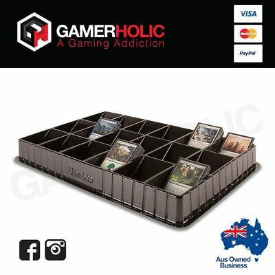 ULTRA PRO BLACK Trading Card Sorting & Dealer Storage Tray 18 Slots Compartments