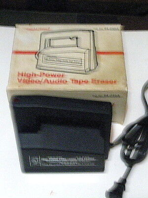 Radio Shack Video Audio Realistic High-Power Bulk Tape Eraser 44-233A Works