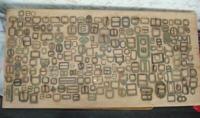 Large lot of vintage antique military buckles, 240 pieces.