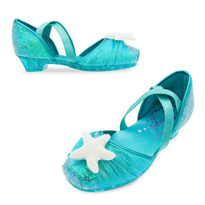 NWT Disney Store Ariel Shoes Costume Shoes Little Mermaid many sizes Girls