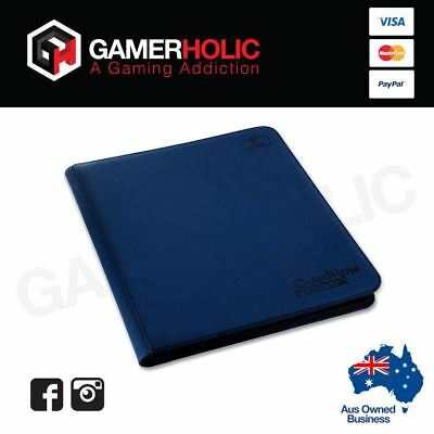 Ultimate Guard 12-Pocket QuadRow ZipFolio XenoSkin Dark Blue Folder Brand New