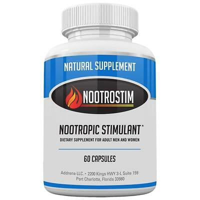 Addrena NootroStim- Nootropic Brain Supplements Stimulants for Energy Focus