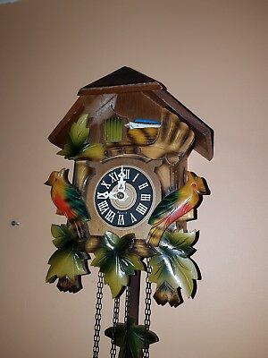 STUNNING BLACK FOREST   CUCKOO CLOCK / Fully  Servised/New Bellows