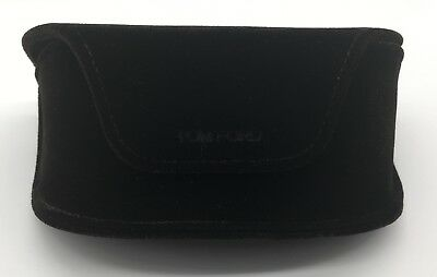 New Authentic Tom Ford Sunglasses Soft Suede Case Brown W/ Cleaning Cloth