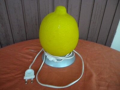 LAMPE DE TABLE CITRON VINTAGE DESIGN 80's / LEMON LAMP
