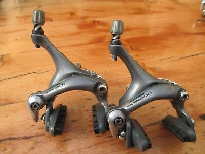 "Shimano 600 Ultegra ""tricolour"" BR-6403 Dual Pivot Brake Calipers - GOOD VINTAGE"