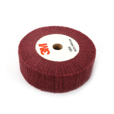 """4/""""~12/"""" Non-woven Abrasive Grinding Flap Polishing Wheel Red 1/"""" Thick 320 Grit"""