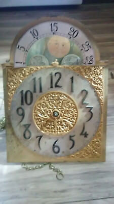 Herschede Grandfather Clock Face Movement Only- Clock Movement Lot #2