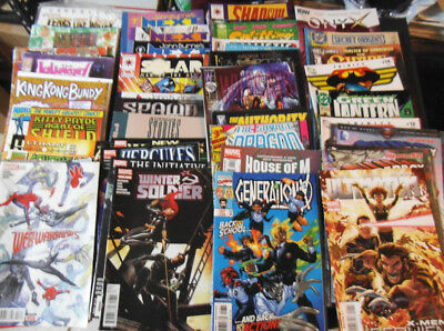✪Huge lot of 75 Comic books Marvel DC & indys ...BXii wi