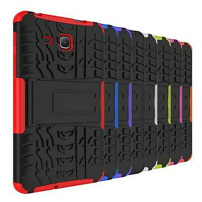 For Samsung Galaxy Tab Rugged Stand Rubber Shockproof Hybrid Hard Case Cove