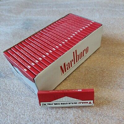 Marlboro Tobacco Rolling Paper Leaves Full Box Red Medium Cut  50x60 Papers