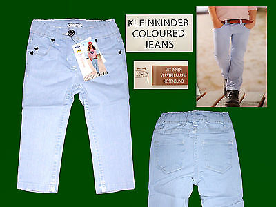 Baby Toddler Jeans Trousers Stretch Girs Kid's Pants 74 & 92 Light Blue