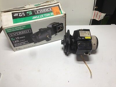 Used, Replacement Motor, For Everbilt 1/2 HP Shallow Well Jet Pump J100A3 Tested