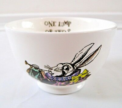 English Alice In Wonderland 'one Lump Or Two' Mrs Moore's Sugar Bowl Fine China