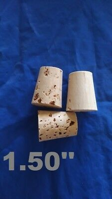 CORK stopper plug round tapered style crafts fishing lab wine all natural**2.0/'/'