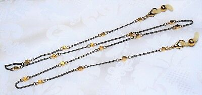 """CHAIN EYEGLASS Vintage STRAND Gold/Silver Plated Tone Mix Fancy 28"""" Long"""